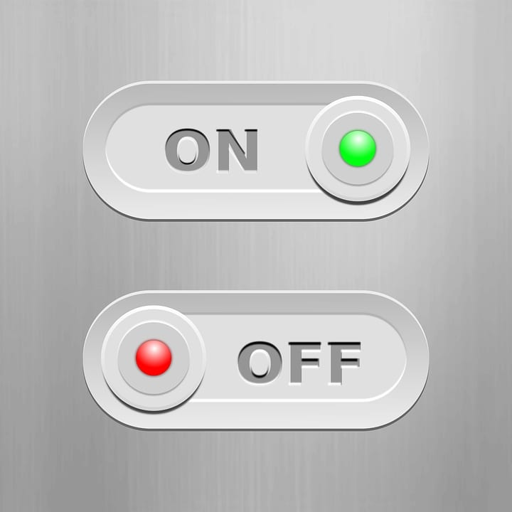 On & Off Buttons